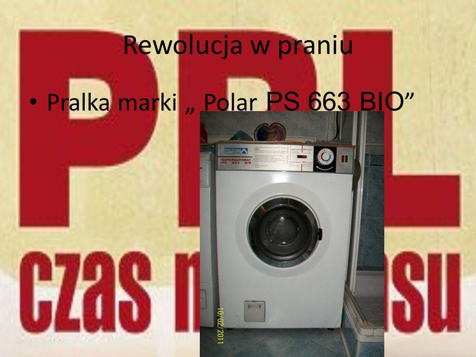 """Rewolucja w praniu Pralka marki """" Polar PS 663 BIO"""