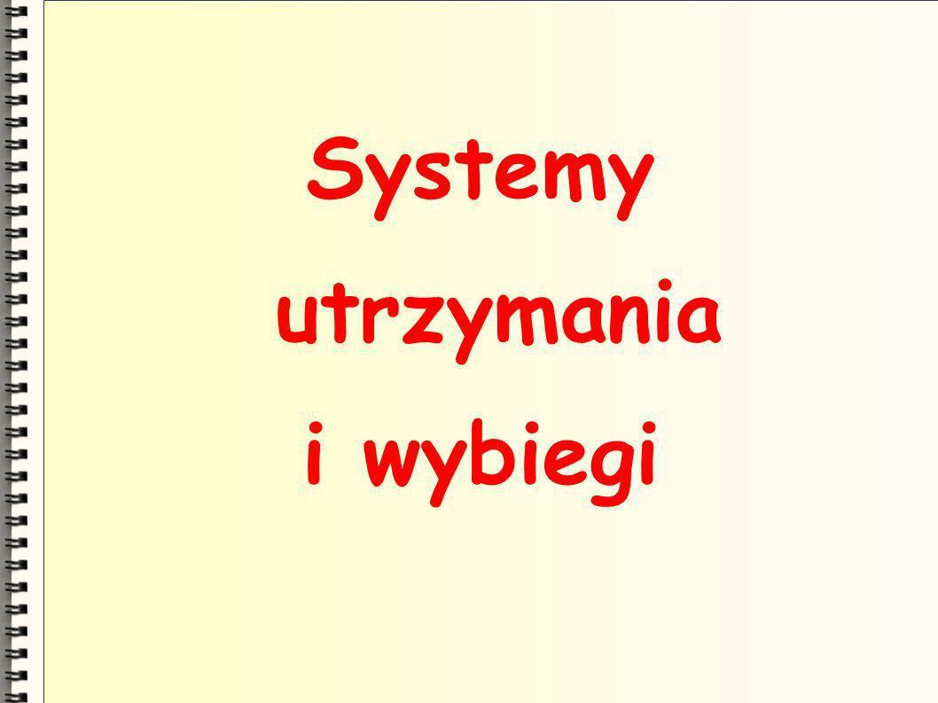 Systemy utrzymania i wybiegi