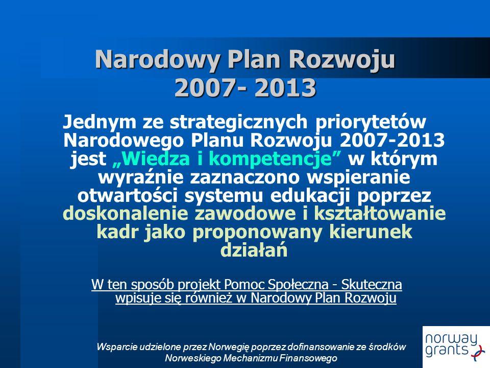 Narodowy Plan Rozwoju 2007- 2013