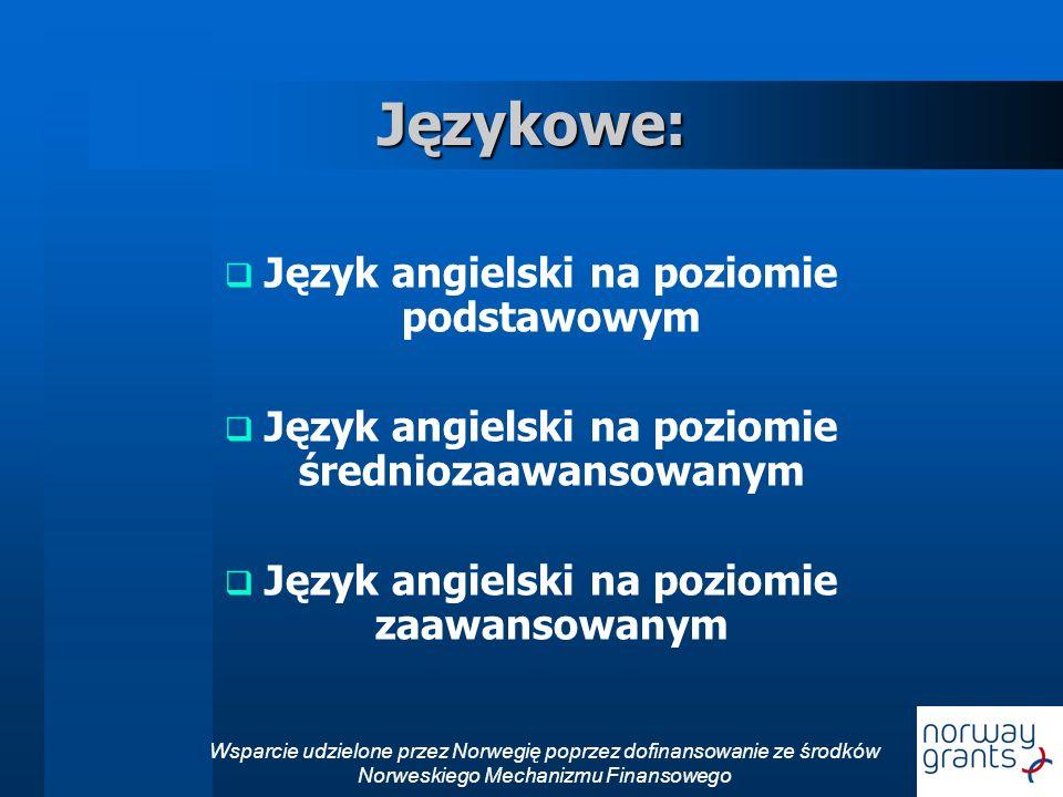 Językowe: Język angielski na poziomie podstawowym