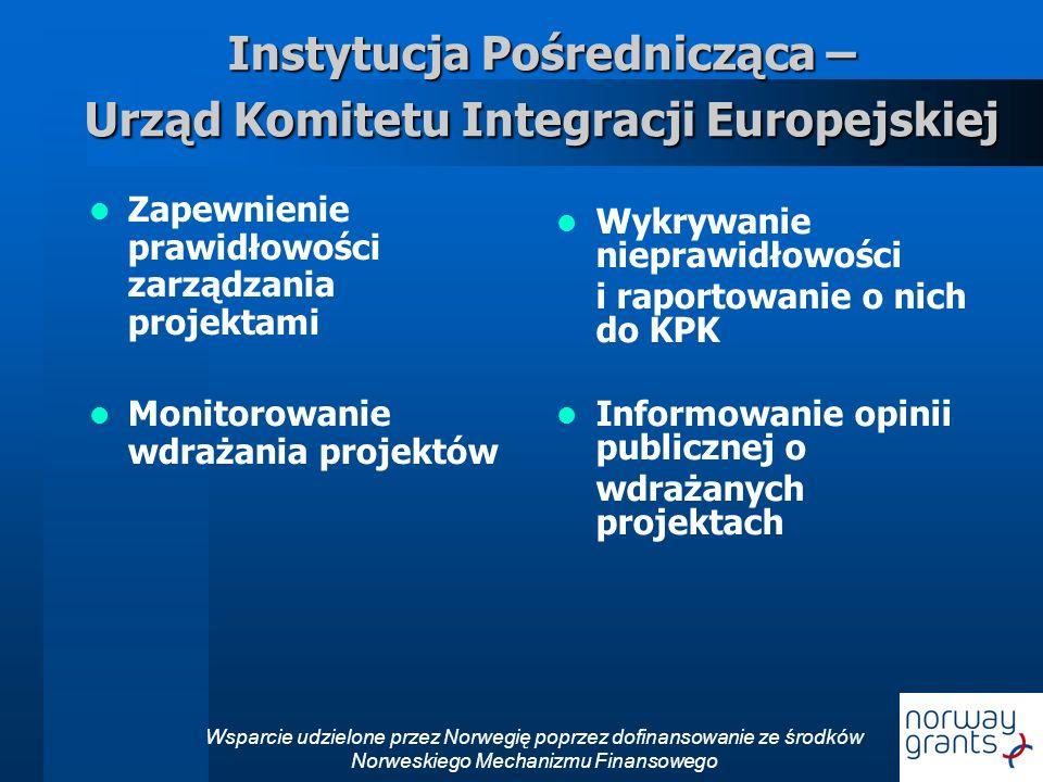 Instytucja Pośrednicząca – Urząd Komitetu Integracji Europejskiej