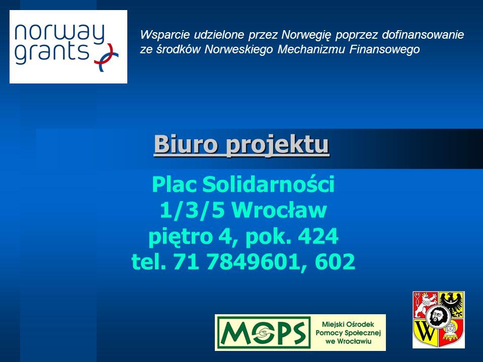Biuro projektu Plac Solidarności 1/3/5 Wrocław piętro 4, pok. 424