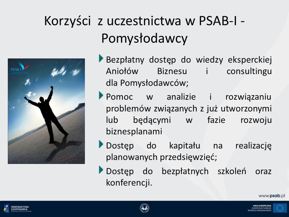 Korzyści z uczestnictwa w PSAB-I - Pomysłodawcy
