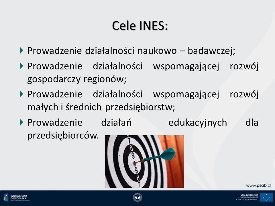 Cele INES: Prowadzenie działalności naukowo – badawczej;