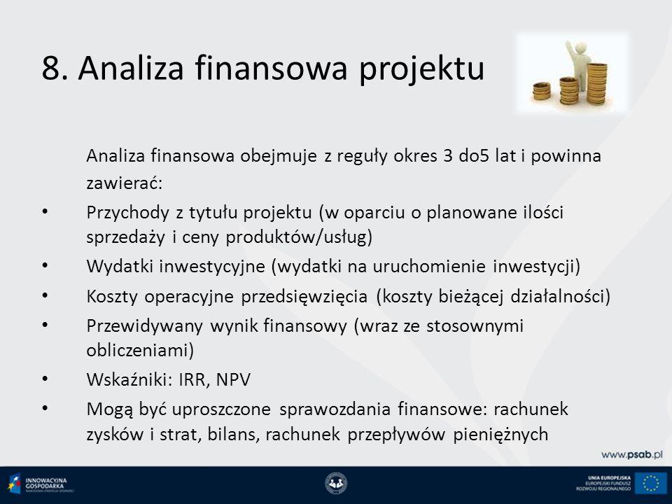 8. Analiza finansowa projektu