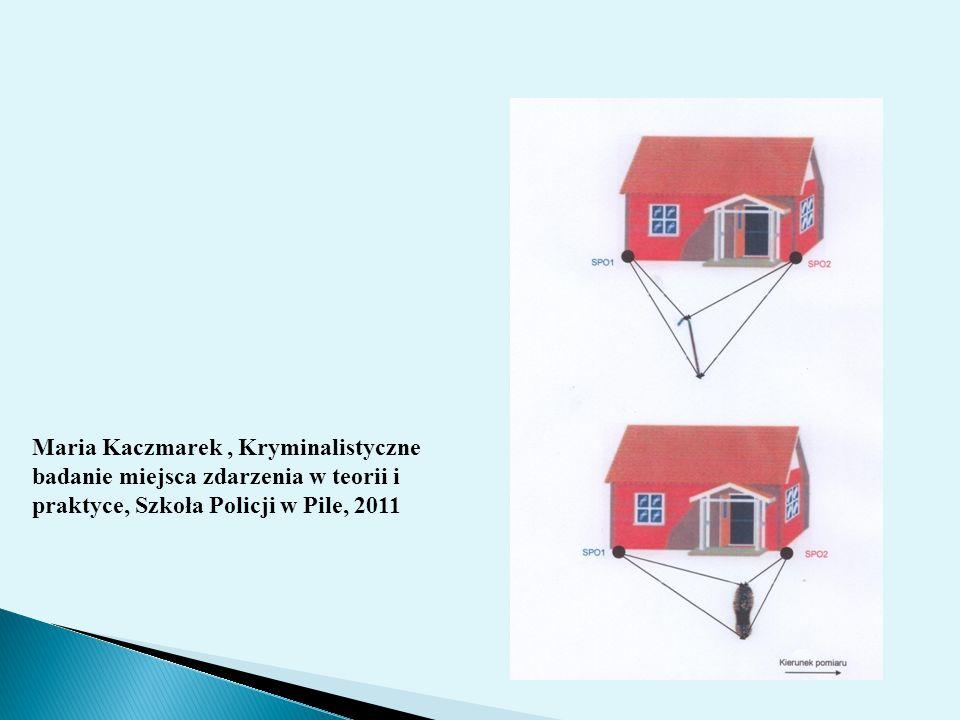Maria Kaczmarek , Kryminalistyczne badanie miejsca zdarzenia w teorii i praktyce, Szkoła Policji w Pile, 2011