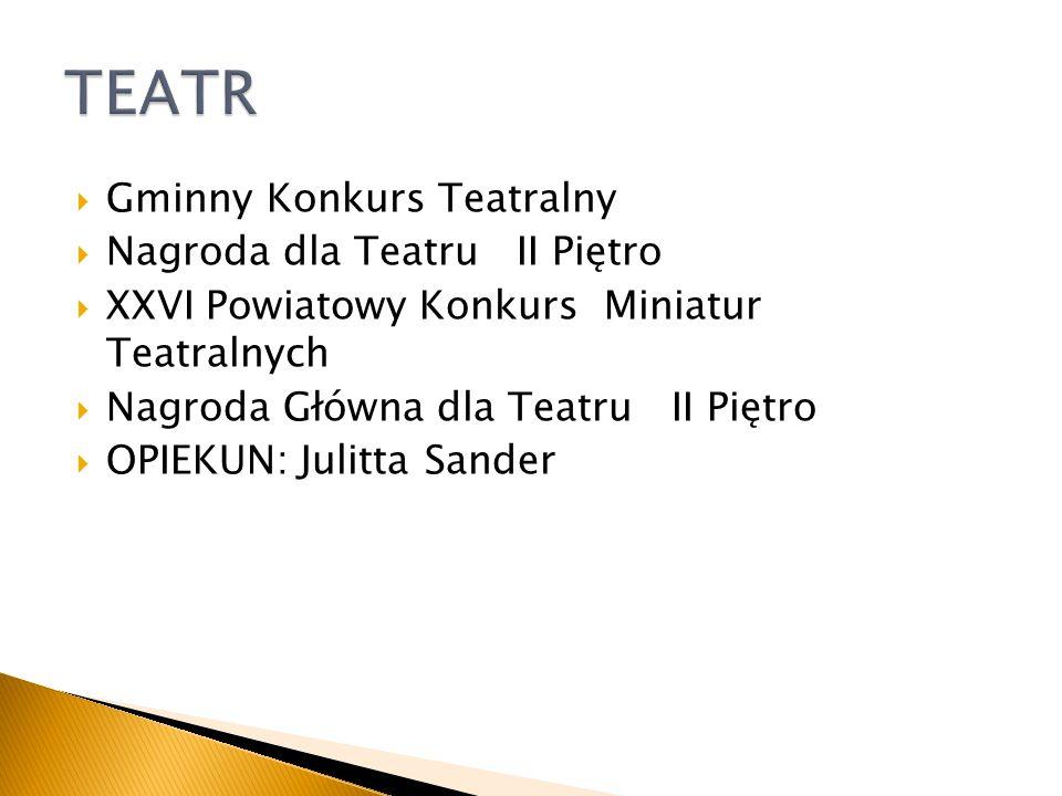 TEATR Gminny Konkurs Teatralny Nagroda dla Teatru II Piętro