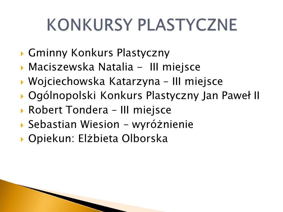 KONKURSY PLASTYCZNE Gminny Konkurs Plastyczny