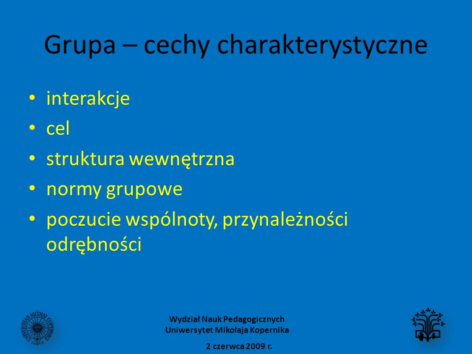 Grupa – cechy charakterystyczne