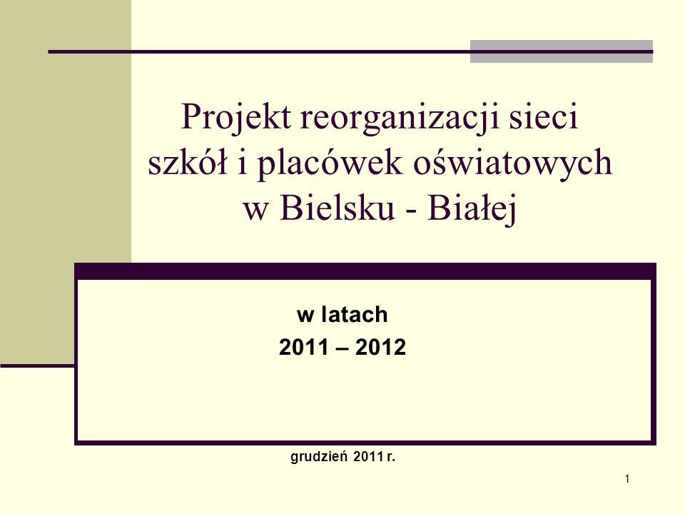 Projekt reorganizacji sieci szkół i placówek oświatowych w Bielsku - Białej