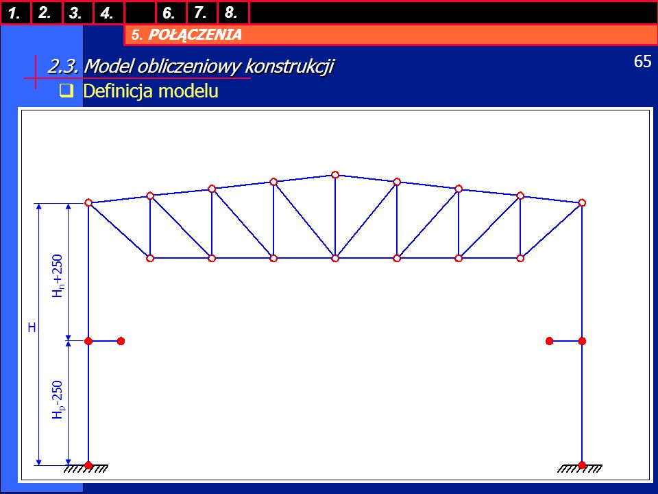 2.3. Model obliczeniowy konstrukcji