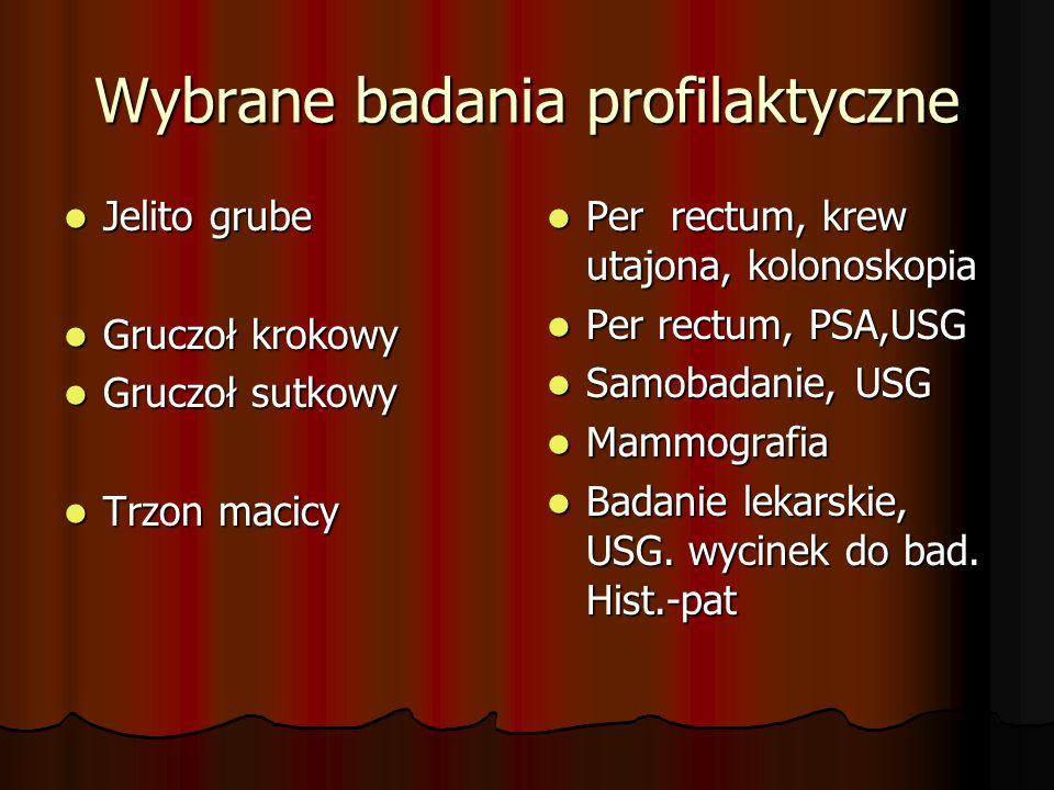 Wybrane badania profilaktyczne