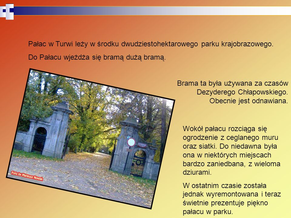 Pałac w Turwi leży w środku dwudziestohektarowego parku krajobrazowego.