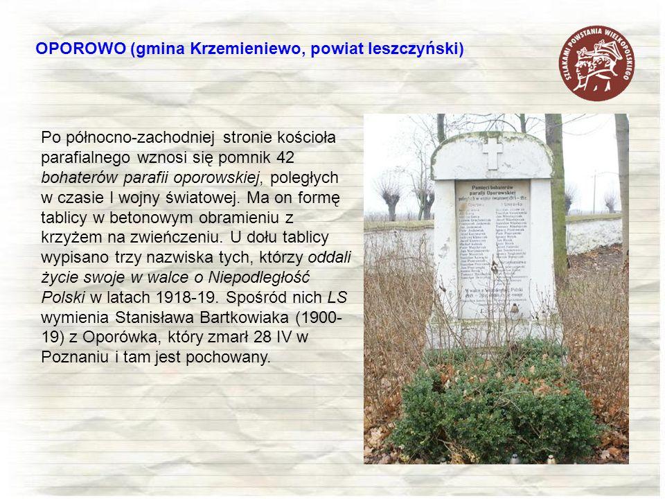 OPOROWO (gmina Krzemieniewo, powiat leszczyński)