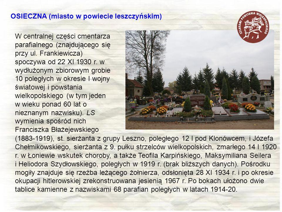 OSIECZNA (miasto w powiecie leszczyńskim)