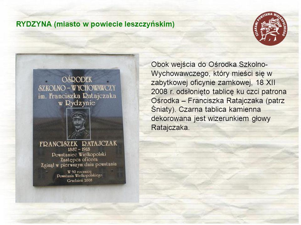 RYDZYNA (miasto w powiecie leszczyńskim)