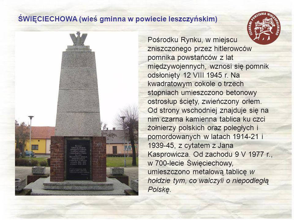 ŚWIĘCIECHOWA (wieś gminna w powiecie leszczyńskim)