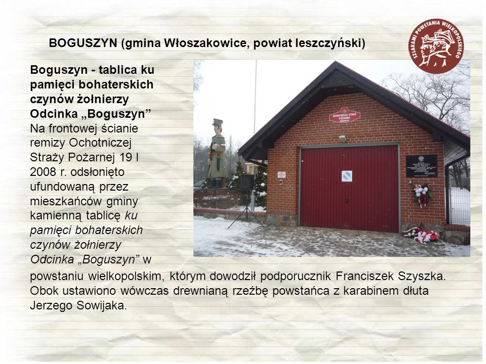 BOGUSZYN (gmina Włoszakowice, powiat leszczyński)