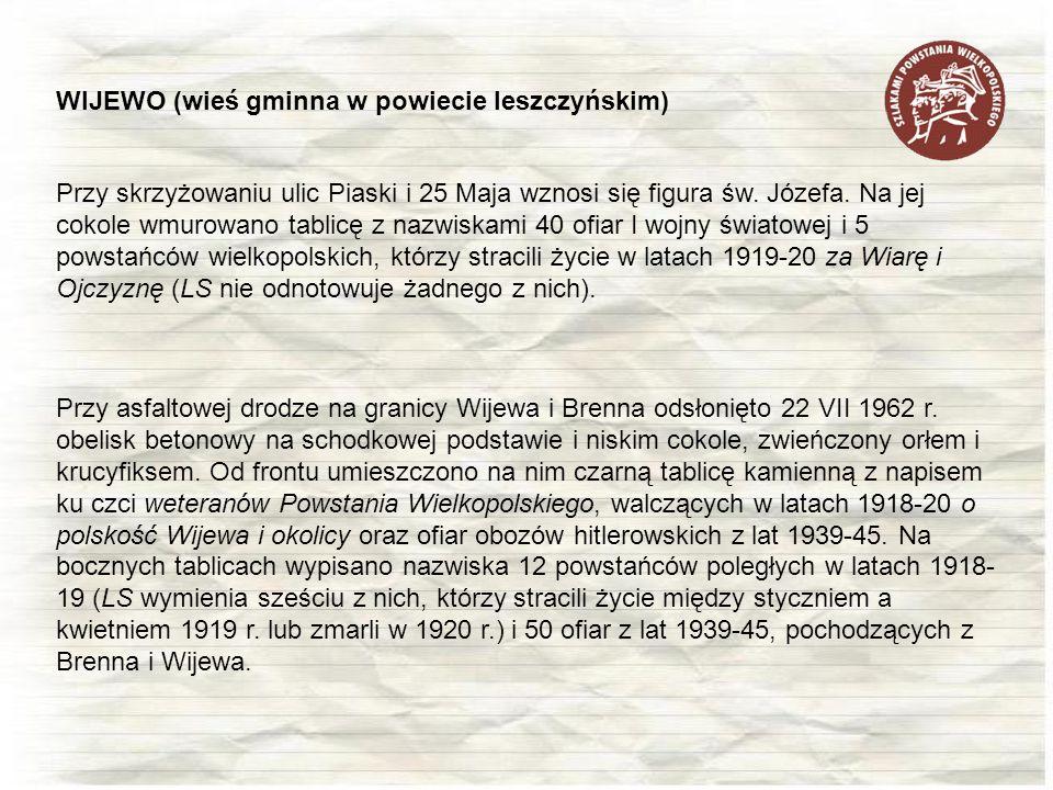 WIJEWO (wieś gminna w powiecie leszczyńskim)
