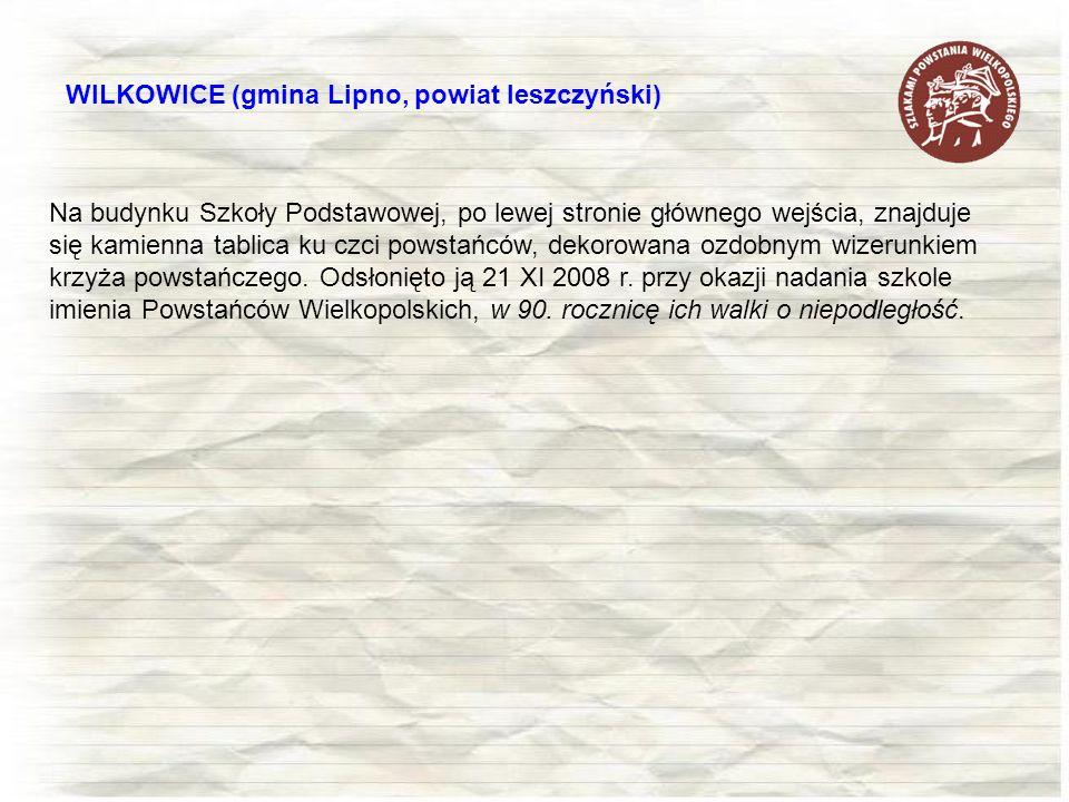 WILKOWICE (gmina Lipno, powiat leszczyński)