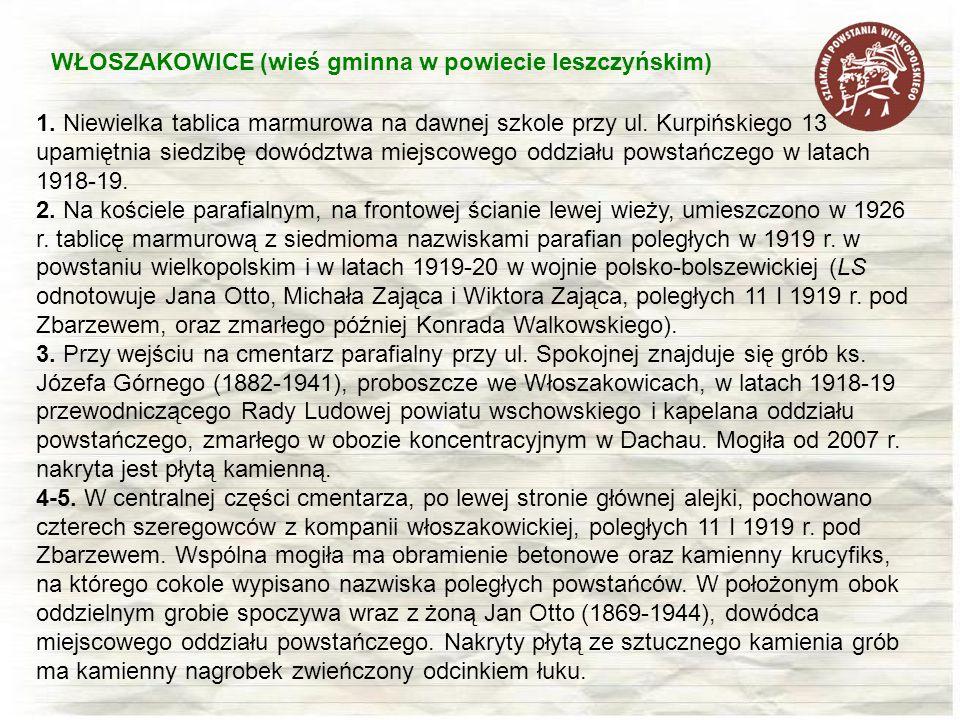 WŁOSZAKOWICE (wieś gminna w powiecie leszczyńskim)
