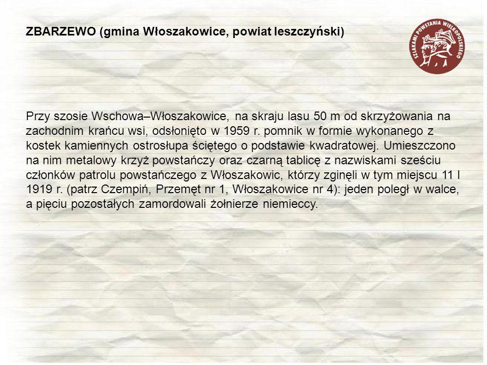 ZBARZEWO (gmina Włoszakowice, powiat leszczyński)