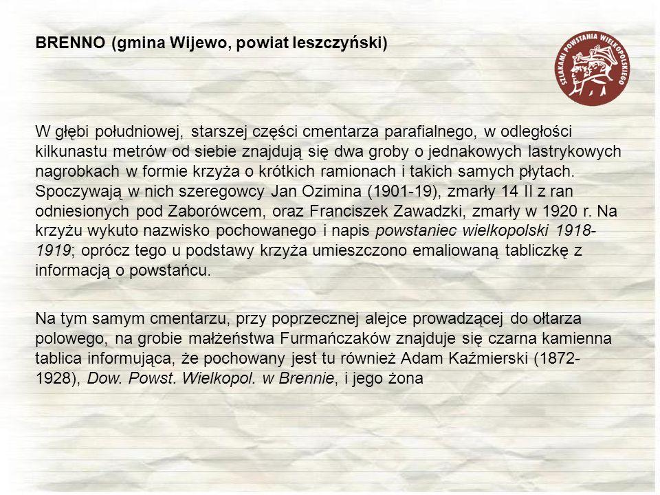 BRENNO (gmina Wijewo, powiat leszczyński)