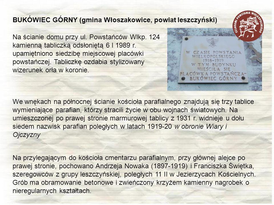 BUKÓWIEC GÓRNY (gmina Włoszakowice, powiat leszczyński)