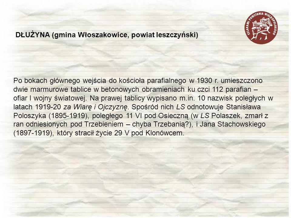 DŁUŻYNA (gmina Włoszakowice, powiat leszczyński)