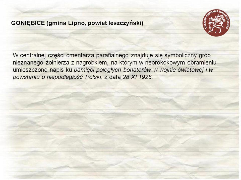 GONIĘBICE (gmina Lipno, powiat leszczyński)