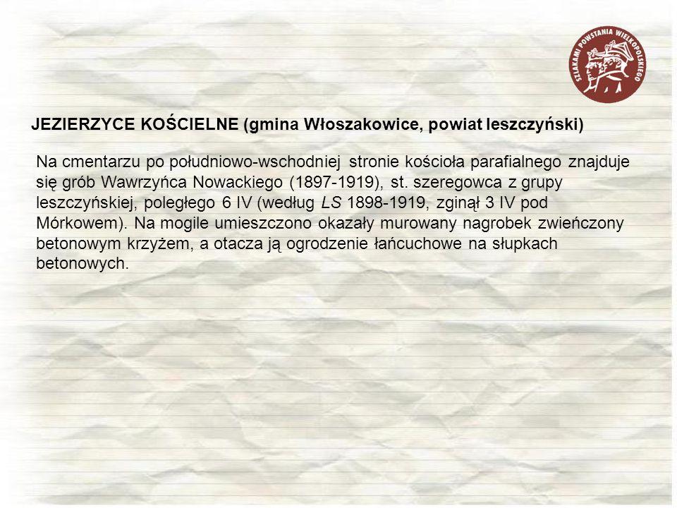 JEZIERZYCE KOŚCIELNE (gmina Włoszakowice, powiat leszczyński)