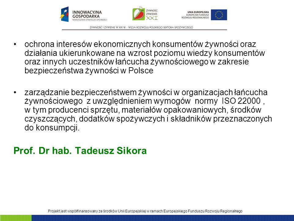 Prof. Dr hab. Tadeusz Sikora