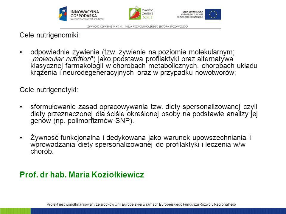 Prof. dr hab. Maria Koziołkiewicz