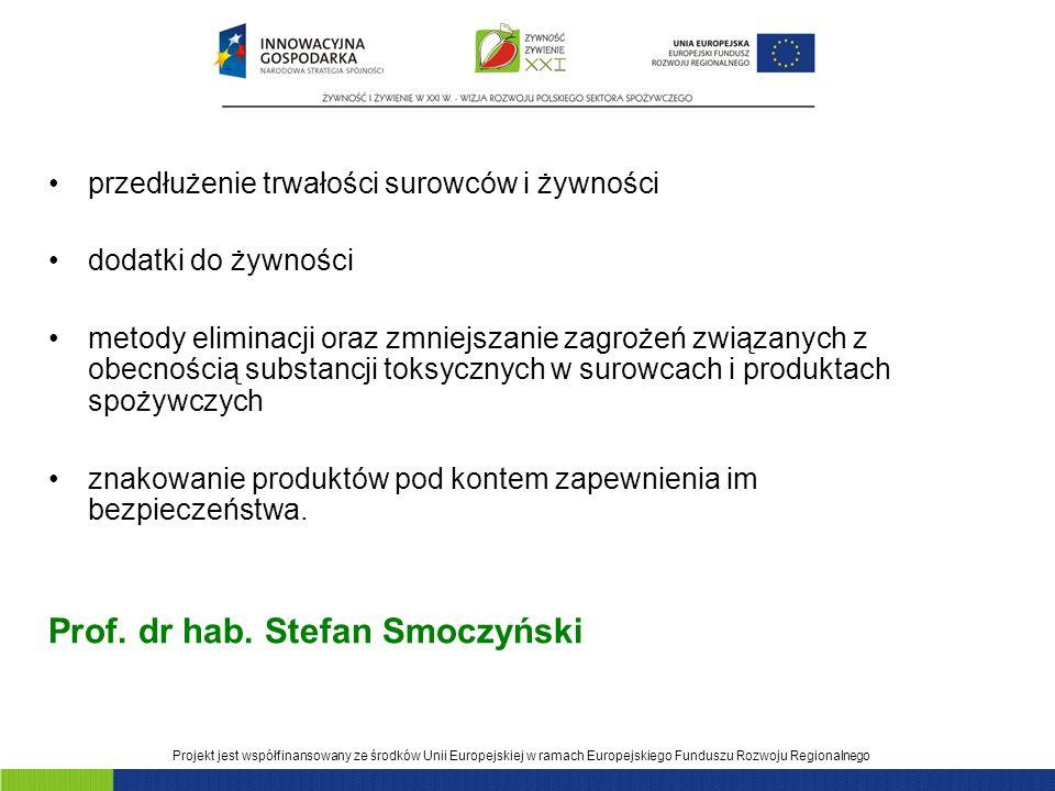 Prof. dr hab. Stefan Smoczyński