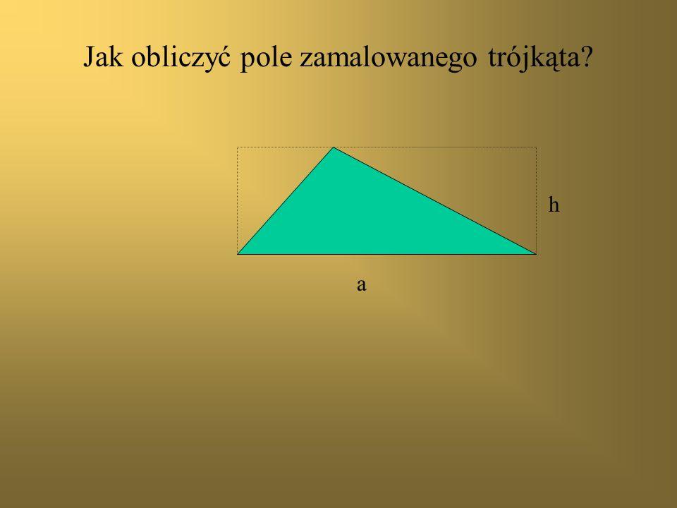 Jak obliczyć pole zamalowanego trójkąta