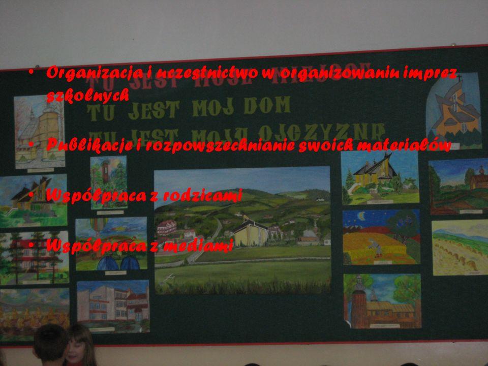 Organizacja i uczestnictwo w organizowaniu imprez szkolnych