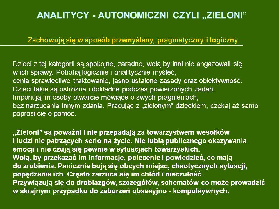 """ANALITYCY - AUTONOMICZNI CZYLI """"ZIELONI"""
