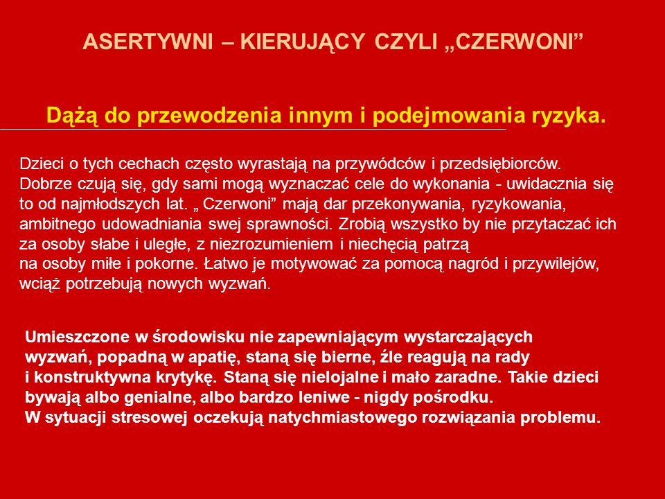 """ASERTYWNI – KIERUJĄCY CZYLI """"CZERWONI"""
