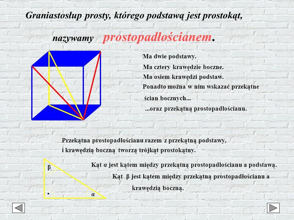 Graniastosłup prosty, którego podstawą jest prostokąt,