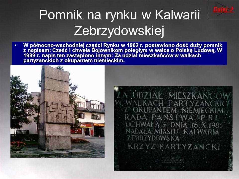 Pomnik na rynku w Kalwarii Zebrzydowskiej