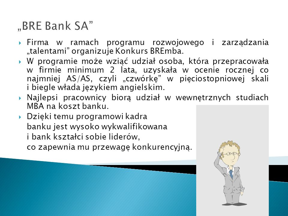 """""""BRE Bank SA Firma w ramach programu rozwojowego i zarządzania """"talentami organizuje Konkurs BREmba."""