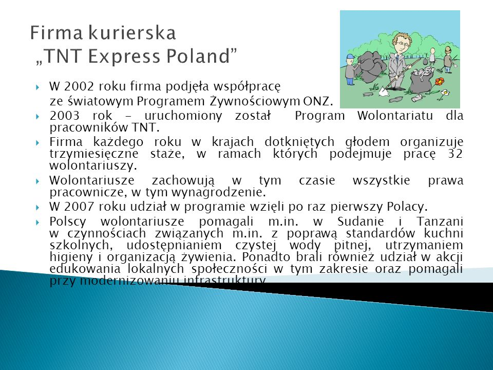 """Firma kurierska """"TNT Express Poland"""