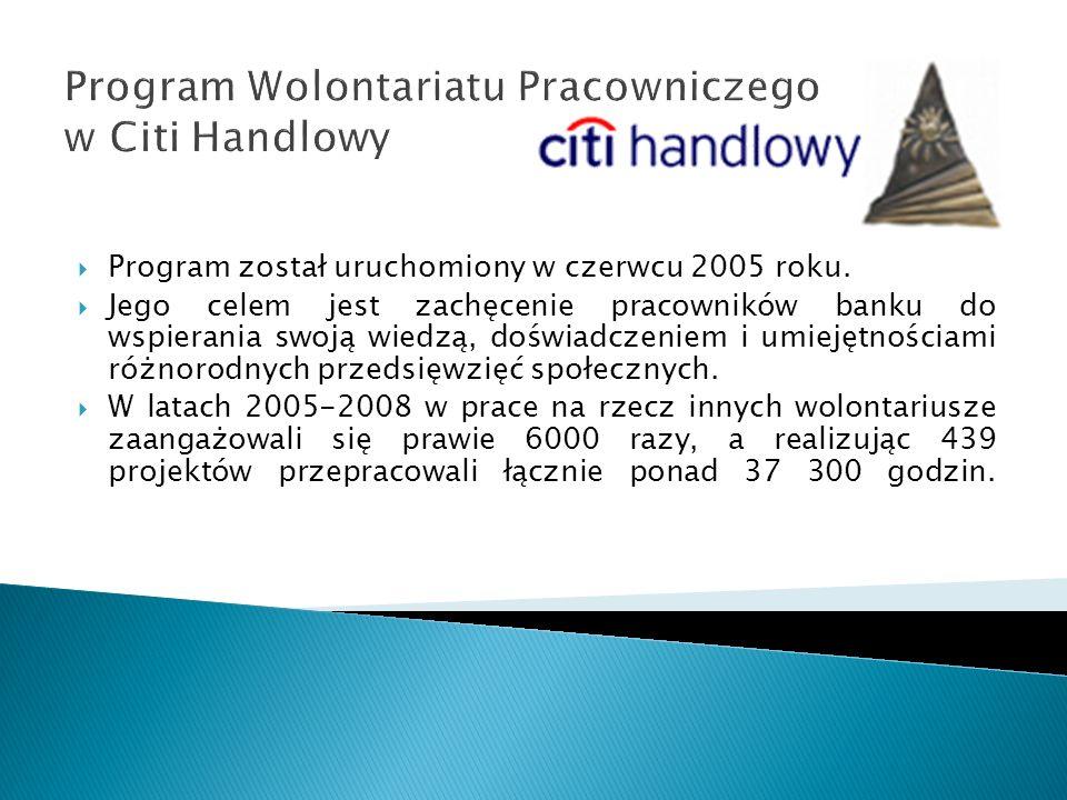 Program Wolontariatu Pracowniczego w Citi Handlowy
