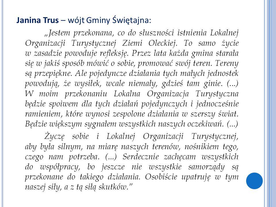 Janina Trus – wójt Gminy Świętajna: