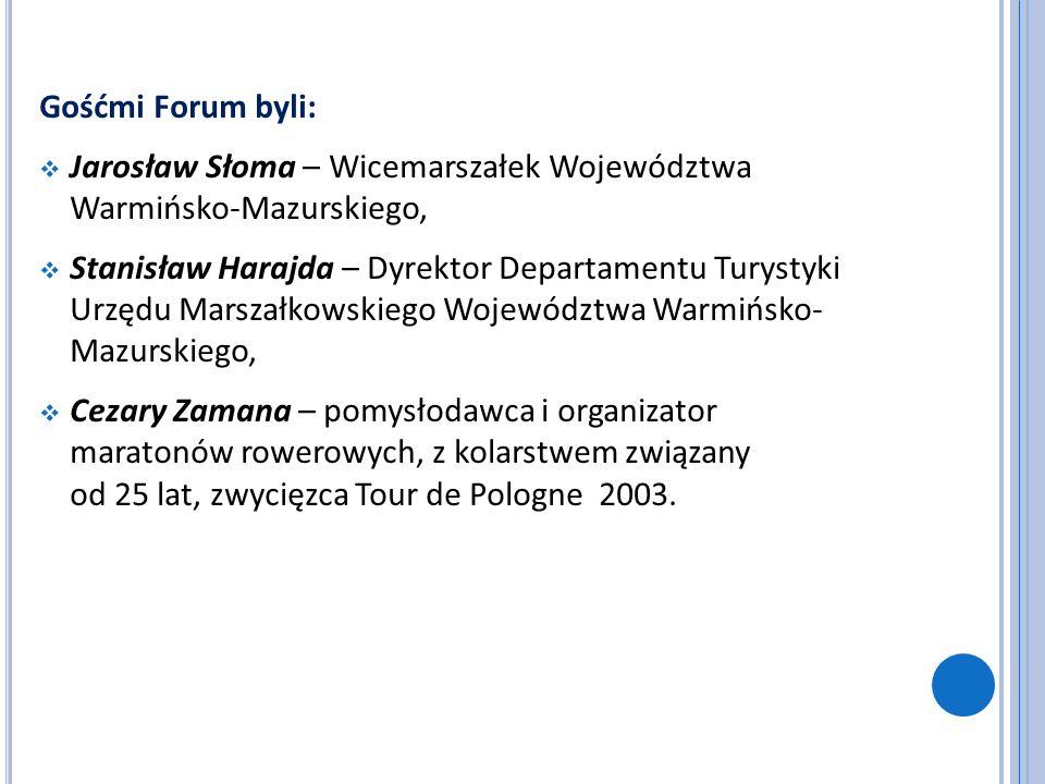 Gośćmi Forum byli: Jarosław Słoma – Wicemarszałek Województwa Warmińsko-Mazurskiego,