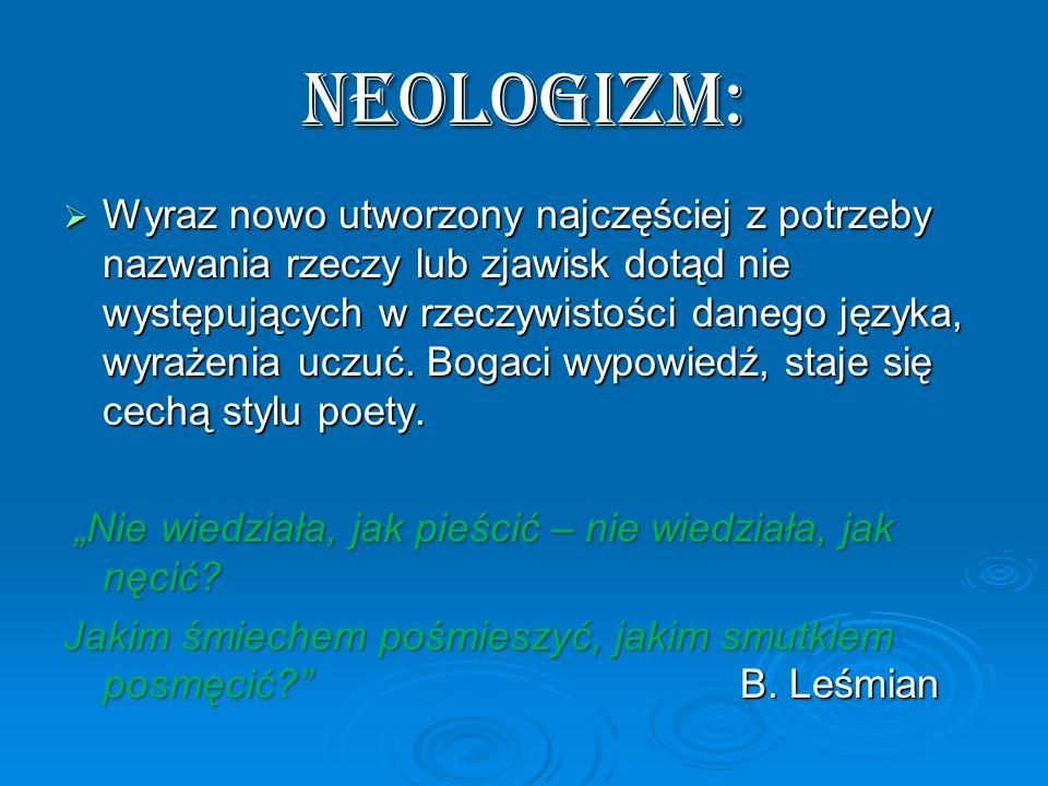 NEOLOGIZM: