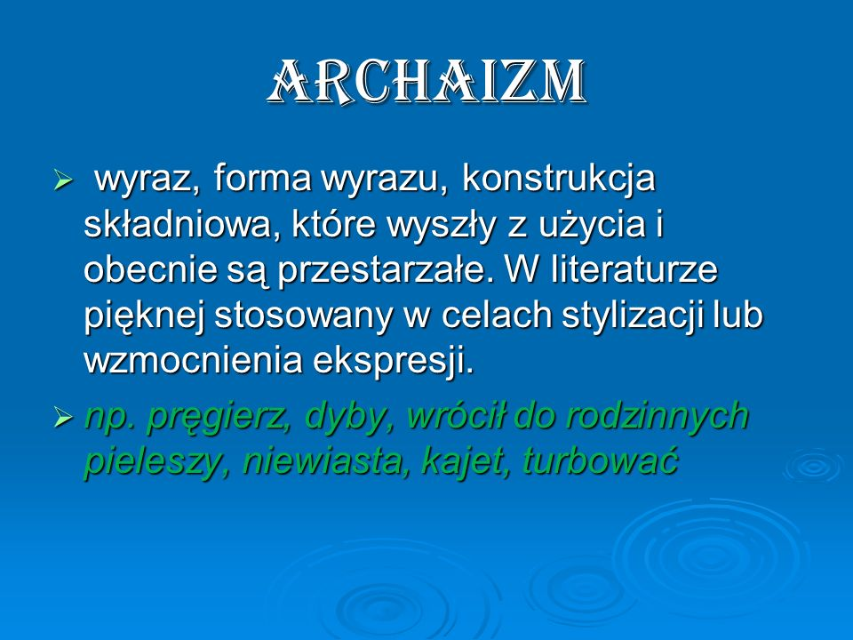 archaizm