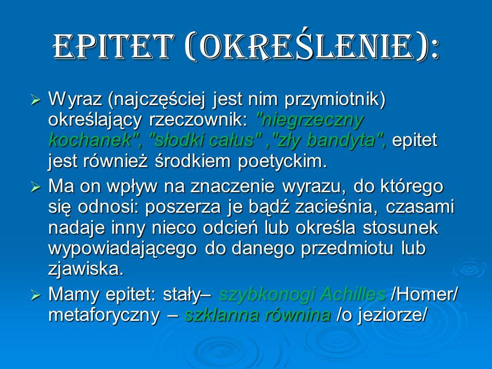 EPITET (OKREŚLENIE):