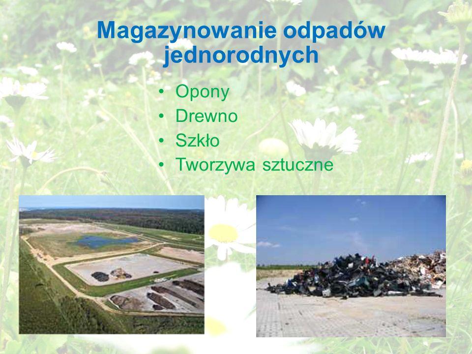 Magazynowanie odpadów jednorodnych
