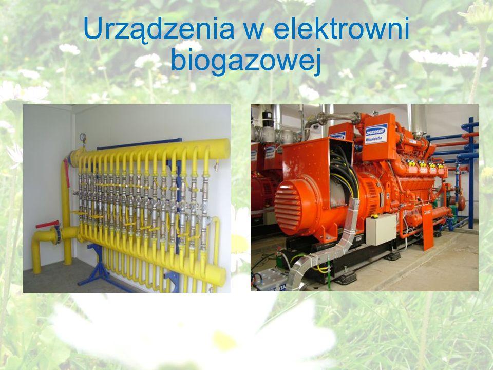 Urządzenia w elektrowni biogazowej